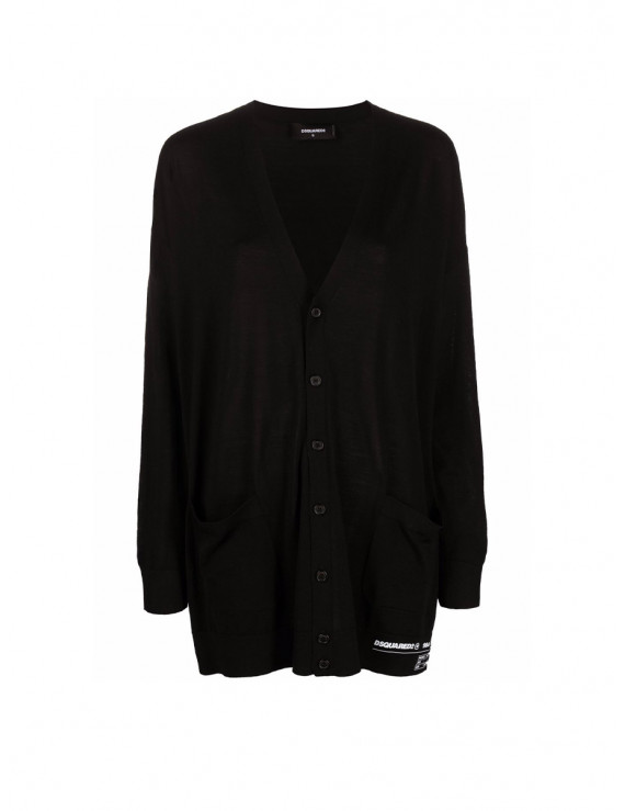 DSQUARED2 logo-detail button-up cardigan S75HA1078S16794900