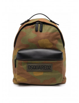 DSQUARED2  camouflage logo print backpack    BPM0063168S0074A008