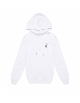 OFF-WHITE CHINE ARROWS REG HOODIE WHITE MULTICOLOR OWBB035F21JER0010184