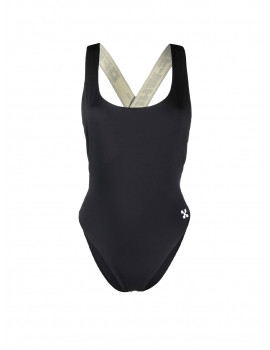 OFF-WHITE LOGO BAND SWIMSUIT BLACK NO COLOR OWFA008F21JER0011000