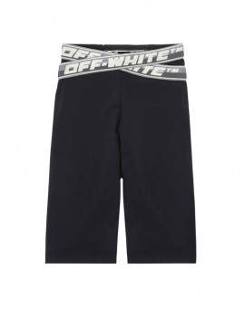 OFF-WHITE ATHL LOGO BAND SHORTS BLACK NO COLOR OWVH020F21JER0011000