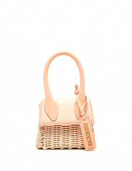 JACQUEMUS Leather and wicker Le Chiquito Mini Bag 1208322 -40%
