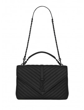 SAINT LAURENT COLLEGE LARGE IN QUILTED LEATHER 600278BRM081000