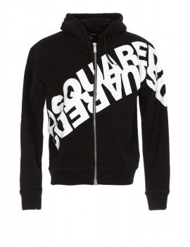 DSQUARED2 MIRRORED LOGO COTTON HOODIE S74HG0098S25042900 - 50% OFF