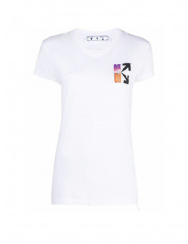 OFF-WHITE WOMEN'S OWAA040R21JER0010184 WHITE COTTON TSHIRT OWAA040R21JER0010184