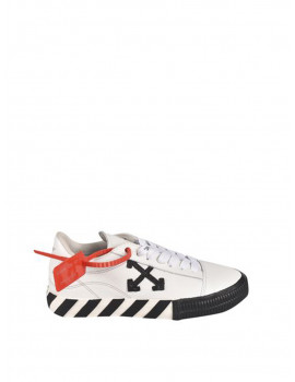 OFF-WHITE LOW VULCANIZED SNEAKERS IN WHITE AND BLACK OWIA178R21LEA0020110