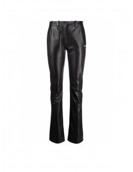 OFF-WHITE TAILORED FITTED LEATHER PANT BLACK NO COLOR OWJB014R21LEA0011000