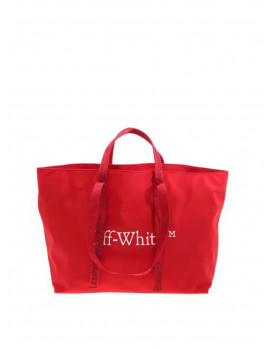 Off-White COMMERCIAL TOTE RED WHITE OWNA094R21FAB0012501