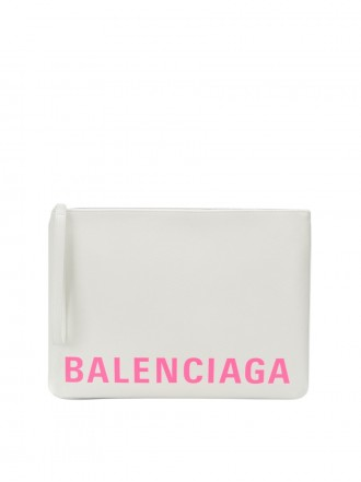 BALENCIAGA Large Ville clutch bag white  - 40% OFF
