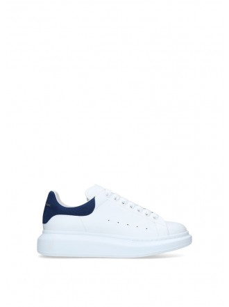 ALEXANDER MCQUEEN Leather Show Sneakers blue