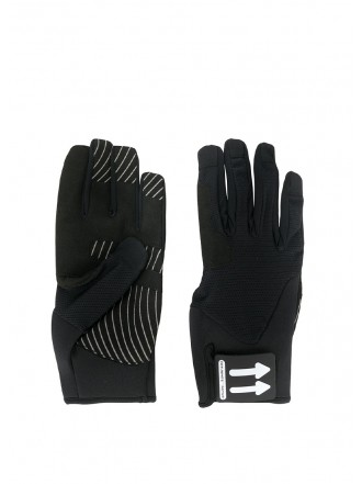 Off-White arrow logo patch gloves