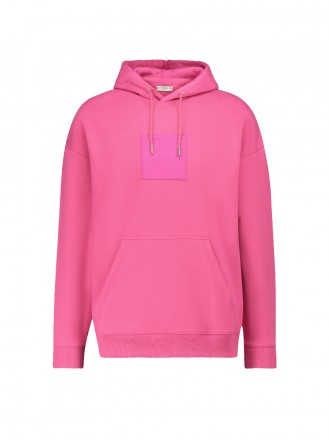 GIVENCHY Square logo hooded sweatshirt pink