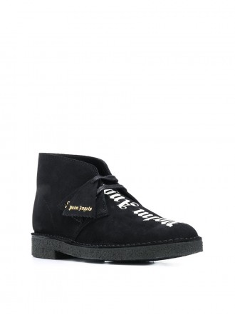 Palm Angels logo-print ankle boots