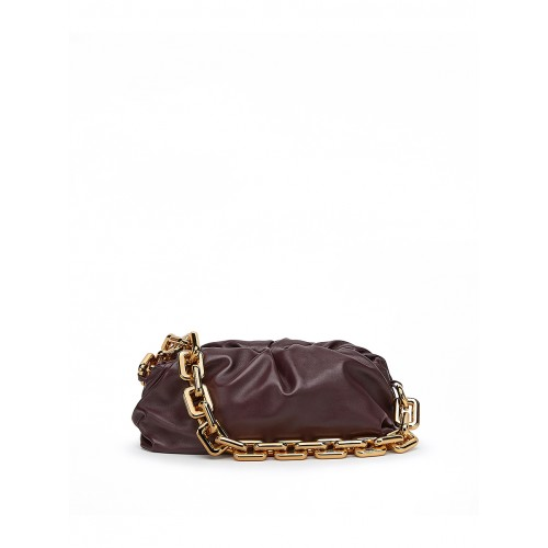 BOTTEGA VENETA THE CHAIN POUCH FONDENTE 1208920