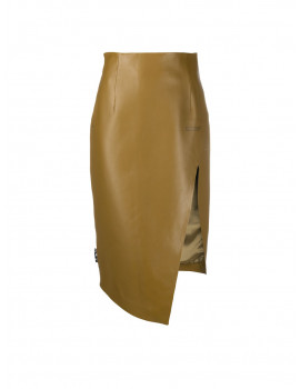 Off-White leather asymmetric pencil skirt 1204310  - 30% OFF