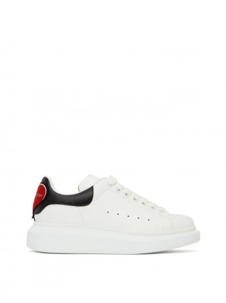 ALEXANDER MCQUEEN 'oversized Sneaker' With Colourblock Heart Tab In 9043 Red/bl