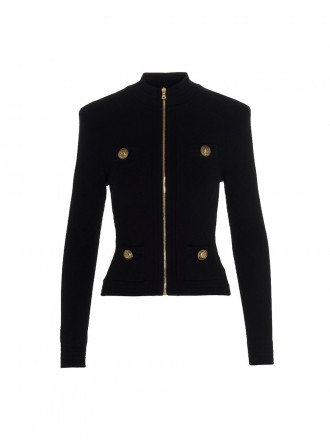 Balmain Diamond knitted jacket black