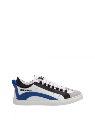 Dsquared mens shoes leather trainers sneakers 1207160 -50%