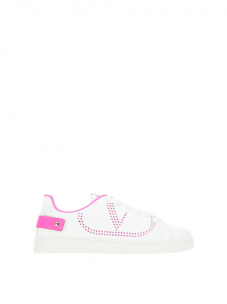 VALENTINO GARAVANI  White leather Backnet sneakers 1202932