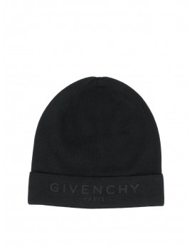 Givenchy knitted logo print beanie 1204574