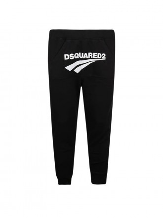 DSQUARED2 MENS COTTON SWEATPANTS IN BLACK  1206692 - 50% OFF