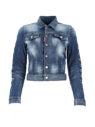 DSQUARED2  Blue stretch denim jacket 1206521