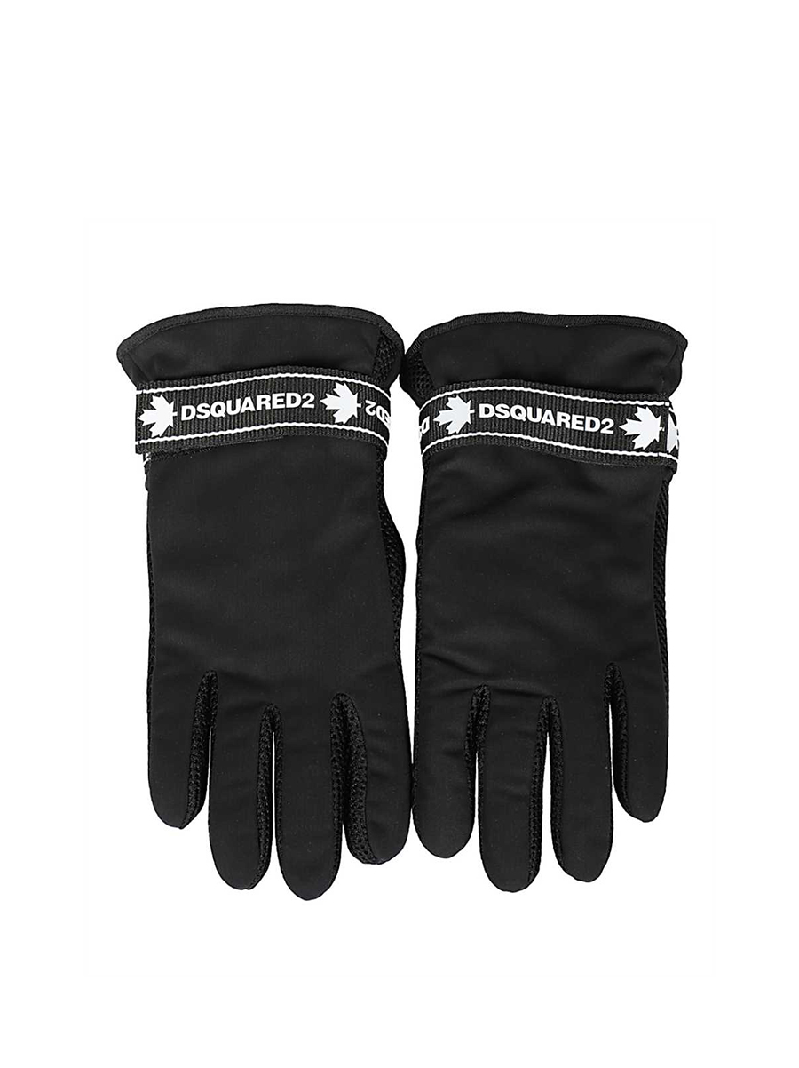 Dsquared2 GLM0011 11703502 BLACK TAPE Gloves - Black size 8 - 1207113  - 30% OFF