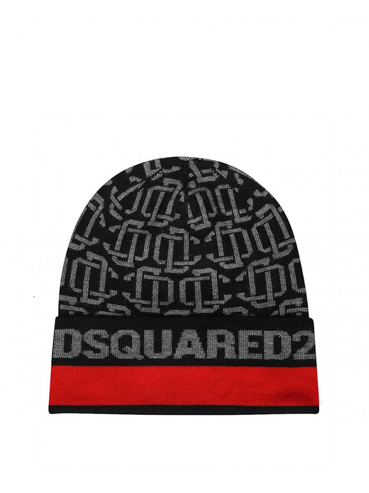 Dsquared2 KNM0054 01W03172 Beanie - Black 1207102 - 50% OFF