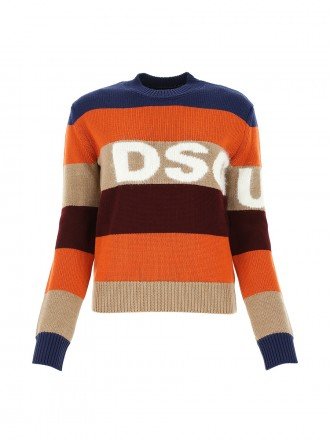 DSQUARED2  Multicolor wool blend sweater 1206544 - 50% OFF