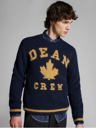 Dsquared2 Dean Crew Mohair Knit Sweater 1206684 - 50% SLEVA