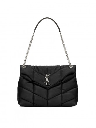 SAINT LAURENT LOULOU PUFFER MEDIUM BAG IN QUILTED LAMBSKIN 1206029