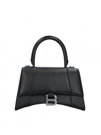BALENCIAGA HOURGLASS SMALL GRAINY LEATHER HANDBAG 1206295