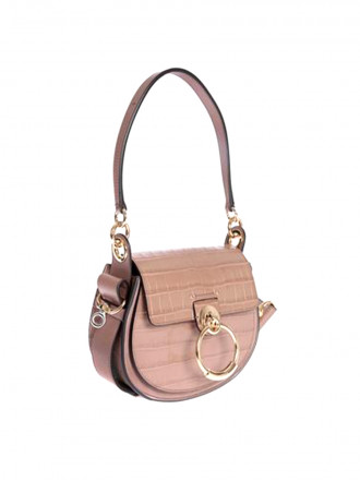 CHLOÉ TESS CROCODILE PRINT BAG IN PINK 1207484 - 50% OFF