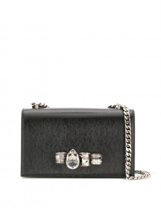 AMQ Alexander McQueen four-ring shoulder bag 1196630 - 50% OFF