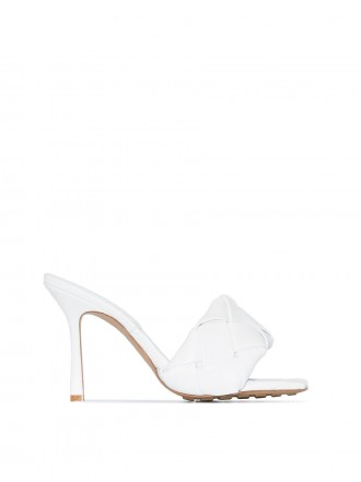 BOTTEGA VENETA  BV Lido Sandals Optic White 1203015