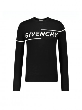 GIVENCHY Sliced logo crewneck sweater 1204494