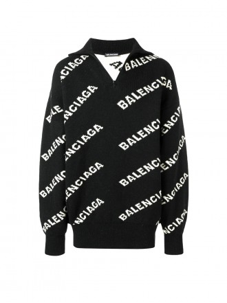BALENCIAGA Logo knit zipped jumper 1195597