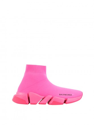 BALENCIAGA Speed 2.0 Sneaker in pink knit, pink sole unit 1206179