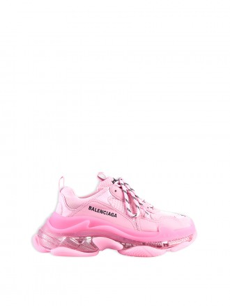 BALENCIAGA Triple S Clear Sole Sneaker in light pink double foam and mesh 1207573
