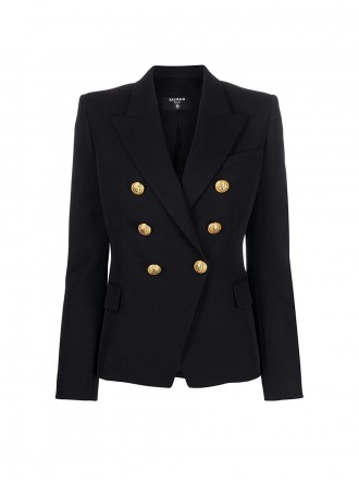BALMAIN Black Wool Blazer 01202702