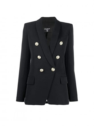 BALMAIN Black Wool Blazer 01199817