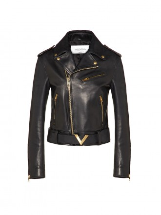 VALENTINO VGOLD LEATHER JACKET 1205537
