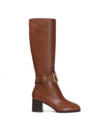 Valentino Garavani Rockstud knee-length boots brown 1196480