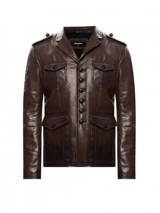 DSQUARED2  Check-motif Double Breasted Wool Coat 1206581 50% SLEVA