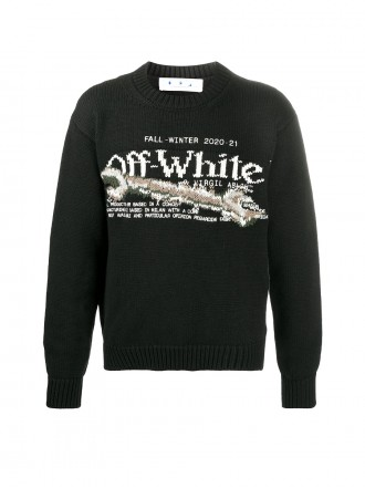 OFF-WHITE BLACK PASCAL TOOL MAN SWEATER 01207647
