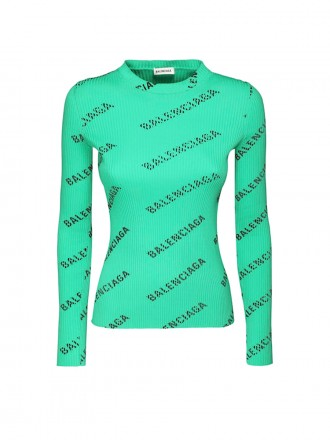 Balenciaga Green Polyamide Sweater 1206190