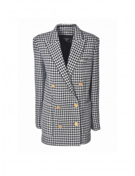 BALMAIN DOUBLE-BREASTED HOUNDSTOOTH COAT 1203830