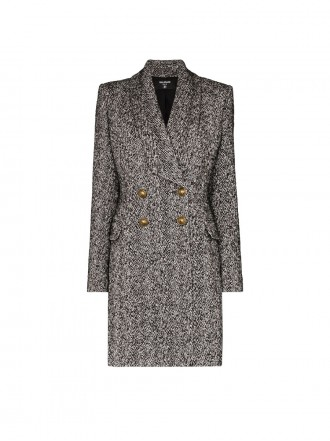 BALMAIN BALMAIN TEXTURED DOUBLE-BREASTED COAT 1203828