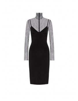 VALENTINO STRETCH CREPE COUTURE DRESS WB0VAX546BS0NO