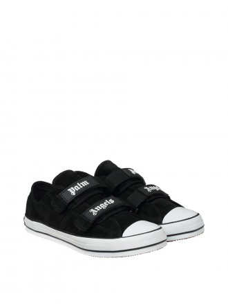 PALM ANGELS BLACK VULCANIZED SNEAKERS
